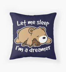 Dreamer bear Throw Pillow