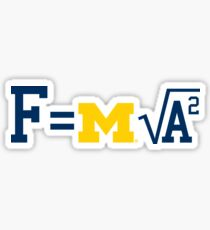 Michigan F=m√a^2 Sticker