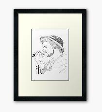 Liam ink Framed Print