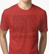 Captain Wentworth's Letter Tri-blend T-Shirt