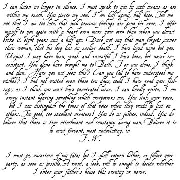 Captain Wentworth's Letter by misfitkismet