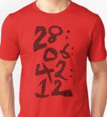 Camiseta unisex cuenta regresiva