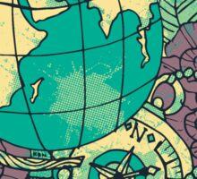 Knuckle Puck Globe Sticker