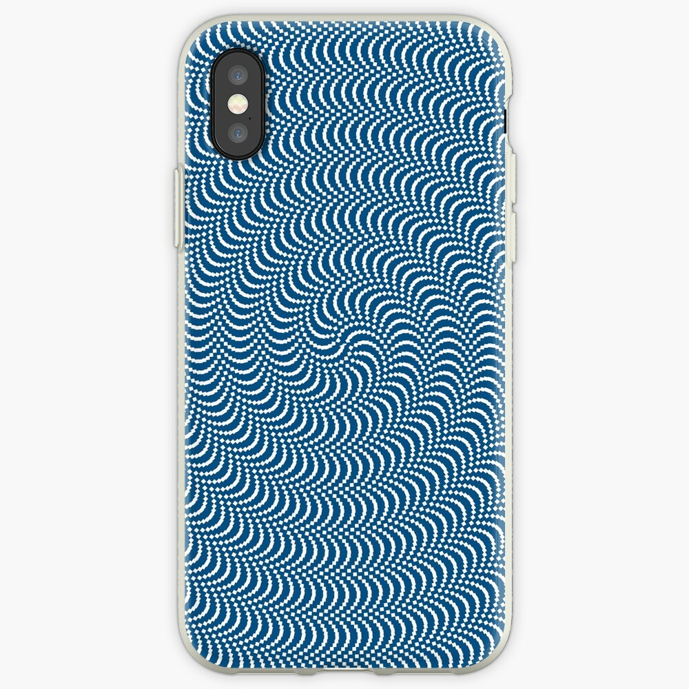 psychedelic Spiral in Blau iPhone-Hülle & Cover