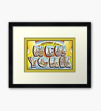 Greetings from New York Forties Fifties style Framed Print