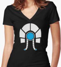 Mass Effect - Legion (White) Women's Fitted V-Neck T-Shirt