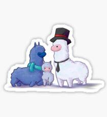 Alpaca Family Sticker
