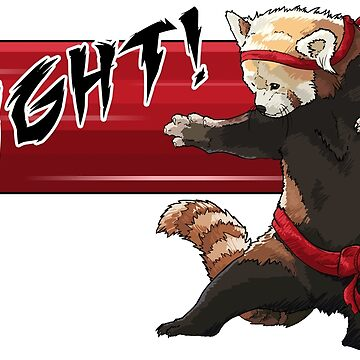 Red Panda FIGHT by kalantix