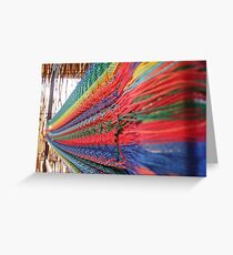 Mexican loom of color Greeting Card