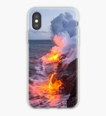 Kilauea Vulkan Lava Flow Sea Eintrag 3- Die Big Island Hawaii iPhone-Hülle & Cover