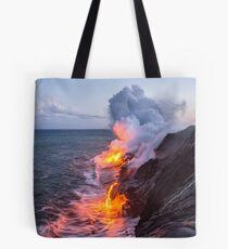 Kilauea Vulkan Lava Flow Sea Eintrag 3- Die Big Island Hawaii Tote Bag