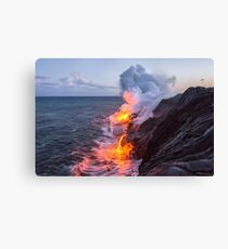 Kilauea Volcano Lava Flow Sea Entry 3- The Big Island Hawaii Canvas Print