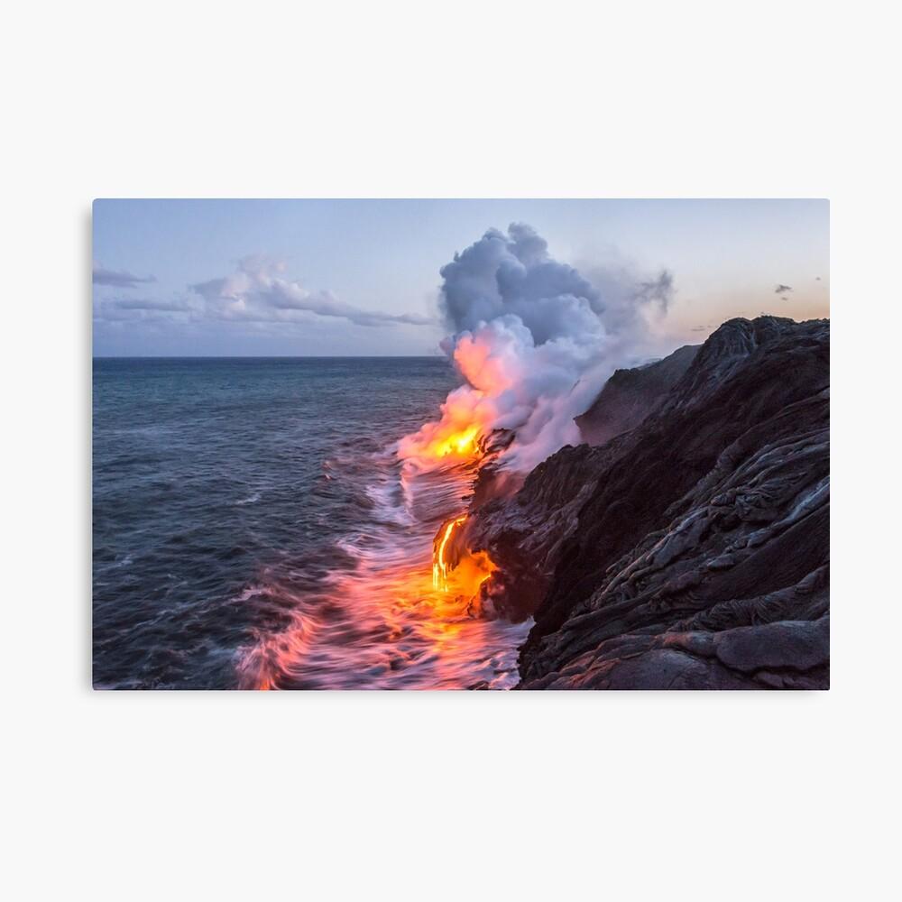 Kilauea Volcano Lava Flow Sea Entry 3 The Big Island Hawaii