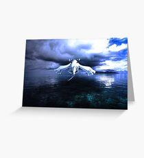 Lugia accros the sea Greeting Card