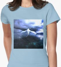 Lugia accros the sea Women's Fitted T-Shirt
