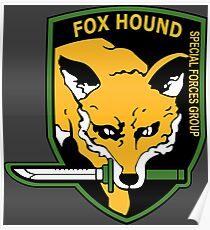 MGS -  Foxhound SFG Logo Poster