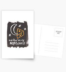 Workin' on my Night Cheese Postcards