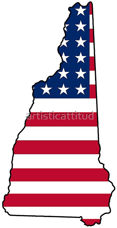 american flag new hampshire outline by artisticattitud