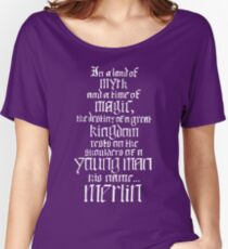 In a Land of Myth... Merlin (white) Women's Relaxed Fit T-Shirt