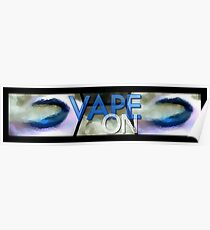 Blue Abstract Lips Vape On Banner Poster
