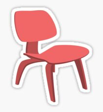 Ray & Chales Eames ICW Chair Classic Design Sticker