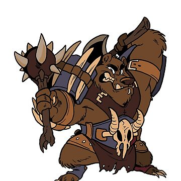 Beast Brigands - Bear Sticker by weremagnus