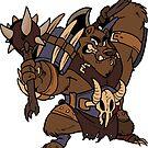Beast Brigands - Bear Sticker by weremagnus