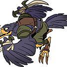 Beast Brigands - Crow Sticker by weremagnus