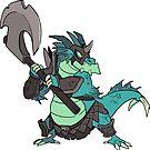 Beast Brigands - Dragon Sticker by weremagnus