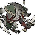 Beast Brigands - Wolf Sticker by weremagnus
