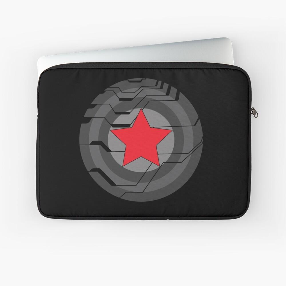 Winter Soldat Schild Laptoptasche