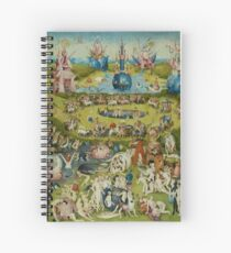 The Garden of Earthly Delights by Hieronymus Bosch (1480-1505) Spiral Notebook