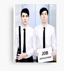 Dan and Phil Get Jobs Canvas Print