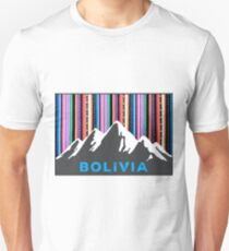 Andean Bolivian mountains and colorful sky Unisex T-Shirt