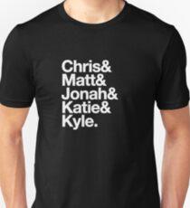 Nerdist Podcast Personnel, Experimental Jetset Style T-Shirt