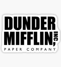 Dunder Mifflin The Office Transparent Sticker