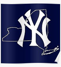 New york Yankees- New york state Poster