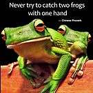 Never try to catch two frogs with one hand by JimPavelle