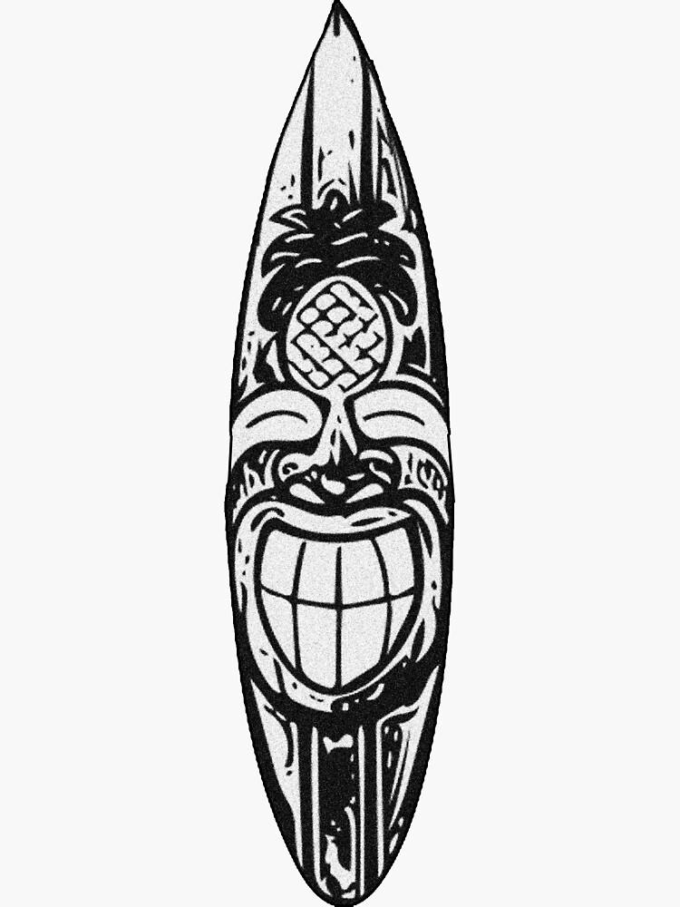 Tabla de surf Tiki de Kalebsnow