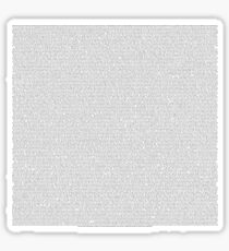 entire shrek script Sticker