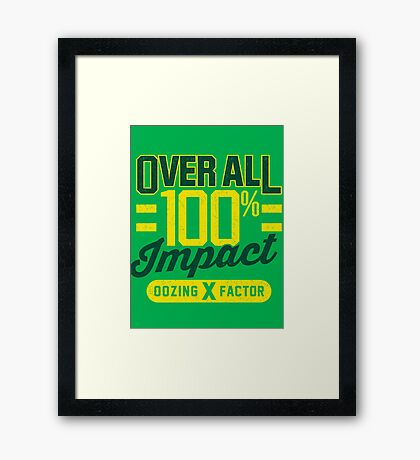 Overall Impact Framed Print