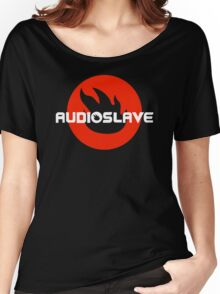 AUDIOSLAVE Rock Band Logo Women's Relaxed Fit T-Shirt
