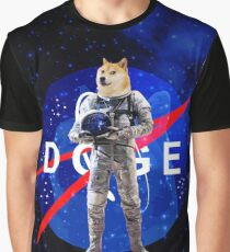 Doge Astronaut In Space Graphic T-Shirt