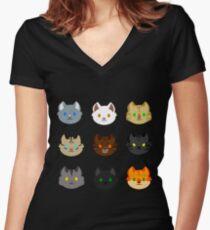 Thunderclan Women's Fitted V-Neck T-Shirt