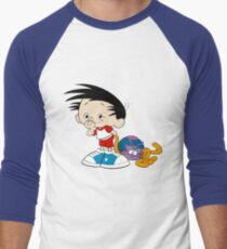 Bobby's World - Bobby & Webbly color Men's Baseball ¾ T-Shirt