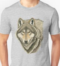 Grey Wolf Portrait Unisex T-Shirt