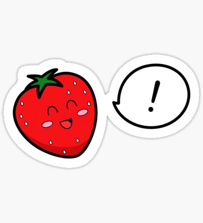 Happy Strawberry - two lof bees Sticker