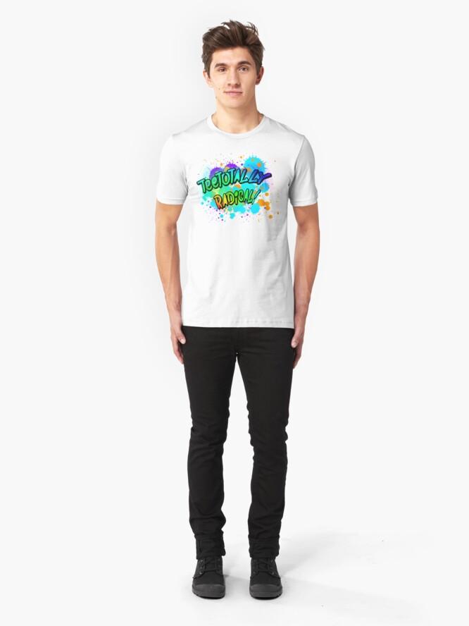 Alternate view of TeeTotally Radical! Slim Fit T-Shirt