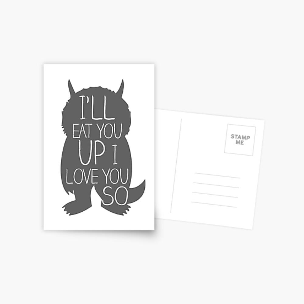 I'LL EAT YOU UP I LOVE YOU SO Postcard