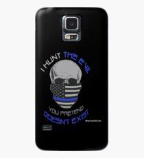 BLUE Line Skull Case/Skin for Samsung Galaxy